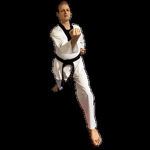 The Lead Instructor performing Taekwondo basics at Taekwondo4Fitness